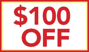 $100 OFF new Soniclean soft carpet vacuum with soft carpet purchase of $1,000 or more during the Home Makeover Sale!