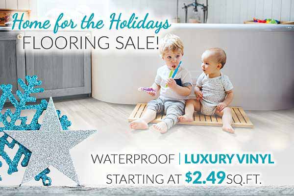 Waterproof Luxury Vinyl Flooring starting at $2.49 sq.ft. during our Home for the Holidays Sale at Bell Carpet & Floors in Wichita, KS