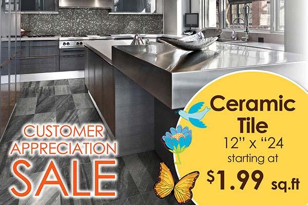 "12"" x 24"" ceramic tile starting at $1.99 sq.ft. at Bell Carpet & Floors in Wichita"