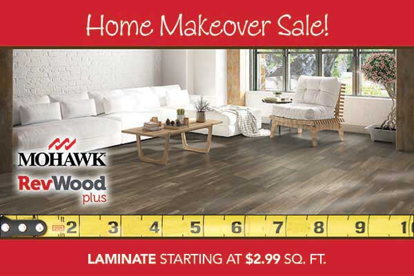 Laminate Flooring starting at $2.99 sq.ft during our home makeover sale at bell Carpet & Floors in wichita